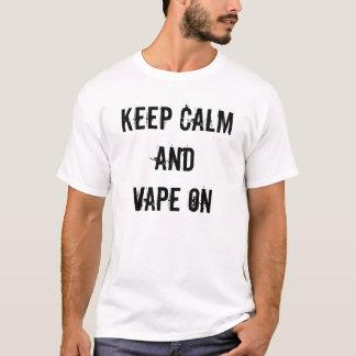 T-shirt Gardez le calme et le Vape dessus