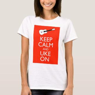T-shirt Gardez le calme et l'Uke dessus !