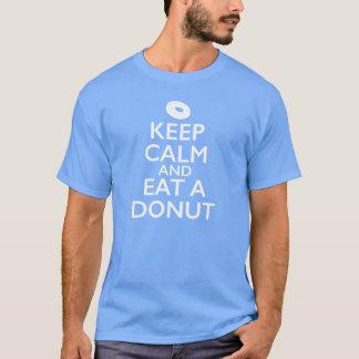 T-shirt Gardez le calme et mangez un beignet