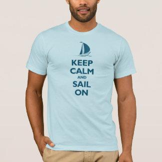 T-shirt Gardez le calme et naviguez sur (l'oceanside)
