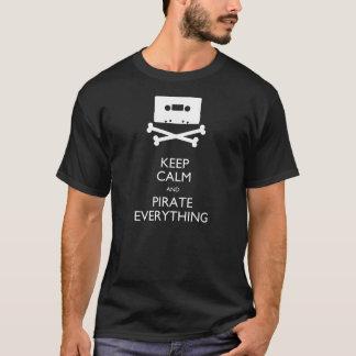 T-shirt Gardez le calme et piratez tout