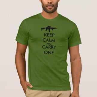T-shirt Gardez le calme et portez un AR15 - FABRIQUÉ AUX
