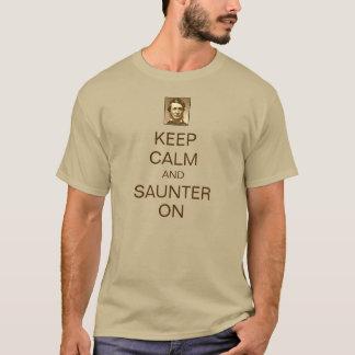 T-shirt Gardez le calme et promenez d'un pas
