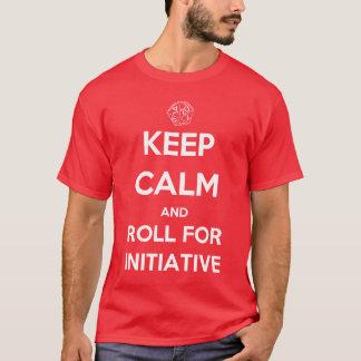 T-shirt Gardez le calme et roulez pour l'initiative