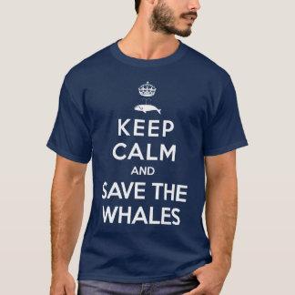 T-shirt Gardez le calme et sauvez les baleines