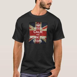 T-shirt Gardez le calme et travaillez les étapes V2