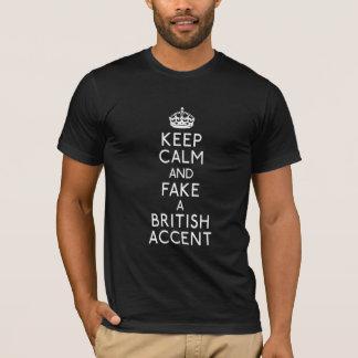 T-shirt Gardez le calme et truquez un accent britannique