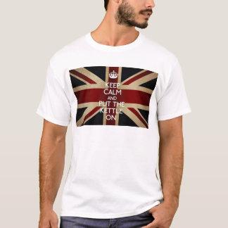 T-shirt Gardez le calme (la bouilloire dessus)
