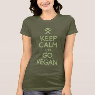 T-shirt Gardez le calme pour aller végétalien