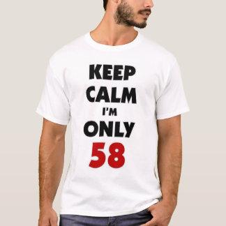 T-shirt Gardez le calme que j'ai seulement 58 ans