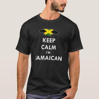 T-shirt Gardez le calme que je suis jamaïcain