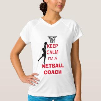 T-shirt Gardez le calme que je suis un car de net-ball