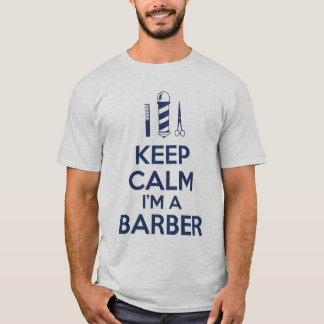 T-shirt Gardez le calme que je suis un coiffeur
