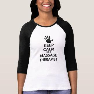 T-shirt Gardez le calme que je suis un thérapeute de