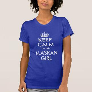T-shirt Gardez le calme que je suis une fille d'Alaska