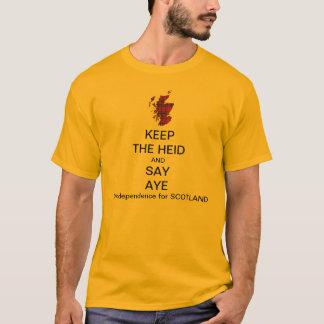 T-shirt Gardez le Heid et dites oui l'indépendance