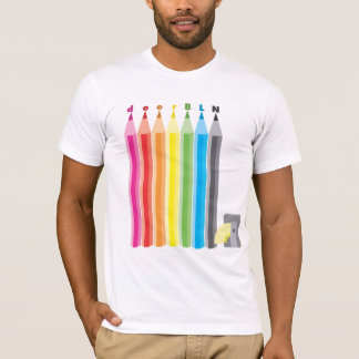 T-shirt gardez-le pièce en t pointue de crayon