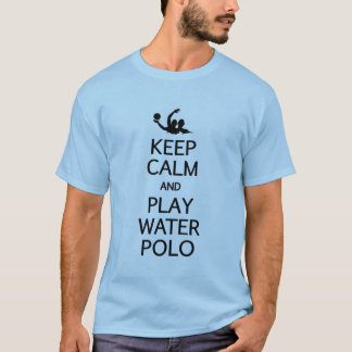 T-shirt Gardez le polo de l'eau de calme et de jeu - pour