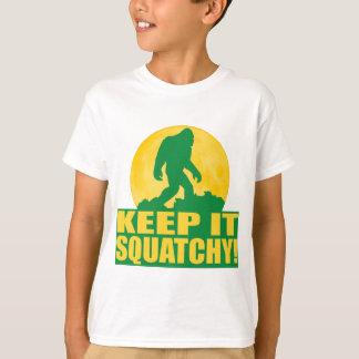 T-shirt GARDEZ-LE SQUATCHY ! ÉCORCE spéciale à l'édition