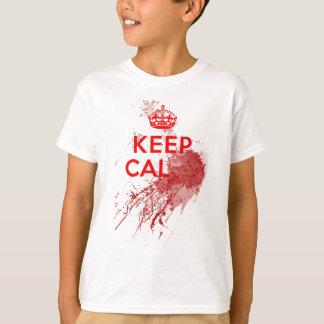 T-shirt Gardez le zombi sanglant calme