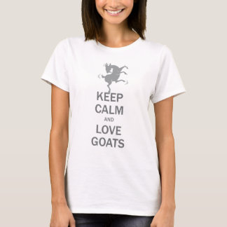 T-shirt Gardez les chèvres calmes d'amour
