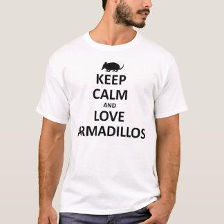 T-shirt gardez les tatous d'amour de ND de calma