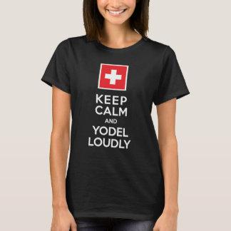 T-shirt Gardez l'humour de Suisse de calme et de