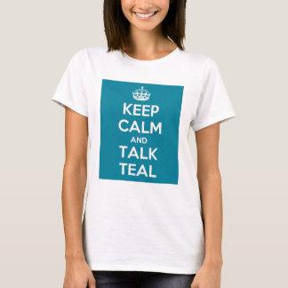 T-shirt Gardez Madame turquoise parlante calme PartsTV