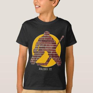 T-shirt Gardien de but d'hockey de mur de briques