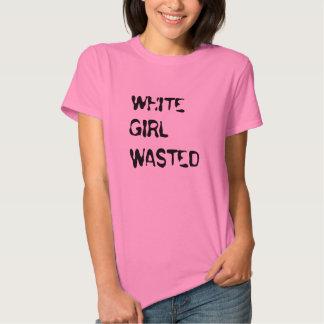 """T-shirt gaspillé """"par fille blanche"""""""