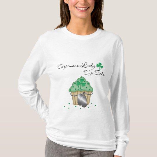 T-shirt Gâteau chanceux de tasse de Corpsmans