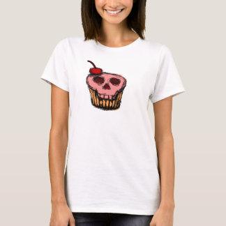 T-shirt Gâteau de crâne avec la cerise