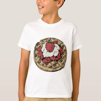 T-shirt Gaufres belges avec des fraises