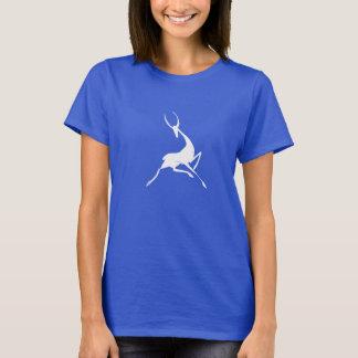 T-shirt Gazelle blanche tirée par la main par espièglerie