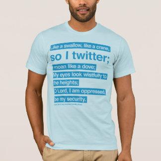 T-shirt gazouillement de bible (bleu)