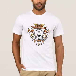 T-shirt Geai Niani - lion déchiqueté - plaid d'automne -