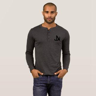 T-shirt Geai Niani - logo de JN au-dessus de noir de
