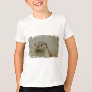 T-shirt géant de la jeunesse de loutre de rivière