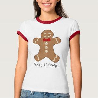 T-shirt géant de vacances de biscuit de bonhomme