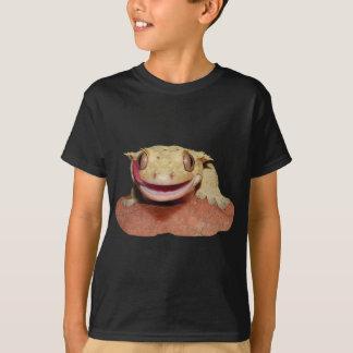 T-shirt Gecko crêté souriant et léchant