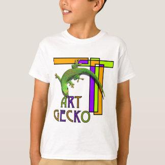 T-shirt gecko d'art