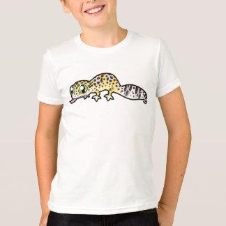 T-shirt Gecko de léopard de bande dessinée