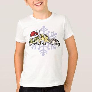 T-shirt Gecko de léopard de Noël