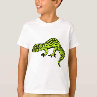 T-shirt Gecko de vert et de noir de chaux