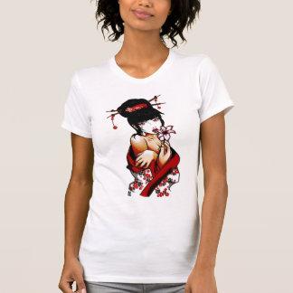 T-shirt Geisha de myrtille