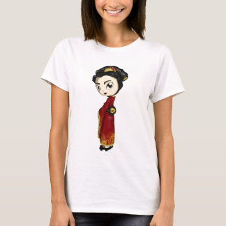 T-shirt Geisha rouge de fortune
