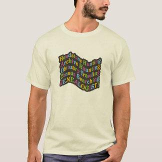 T-shirt Généalogiste de chasse de pierre tombale
