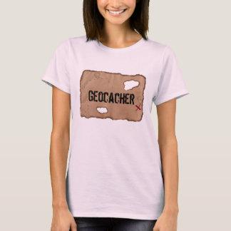 T-shirt : Geocacher (carte de trésor). Rose