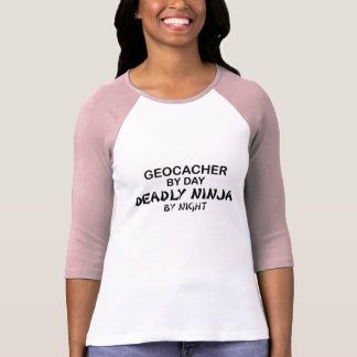 T-shirt Geocacher Ninja mortel par nuit