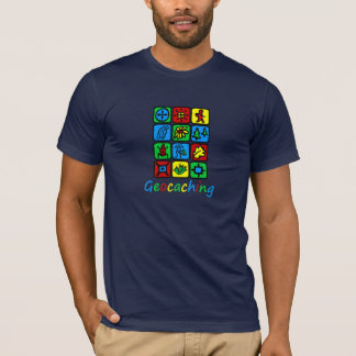 T-shirt Geocaching coloré